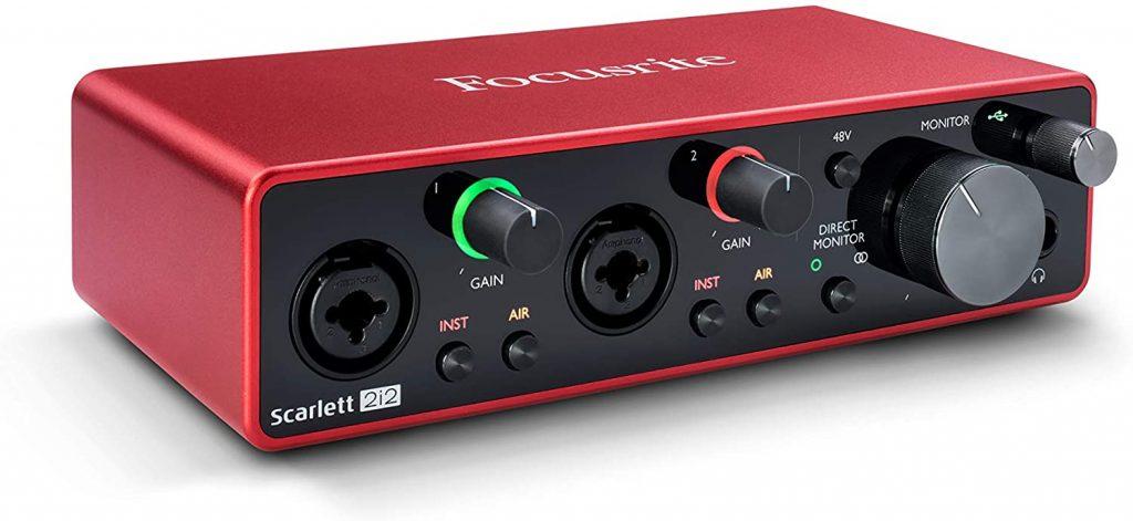 Interface de audio Scarlett