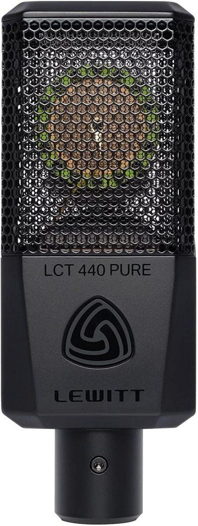 micrófono condensador Lewitt home studio frontal