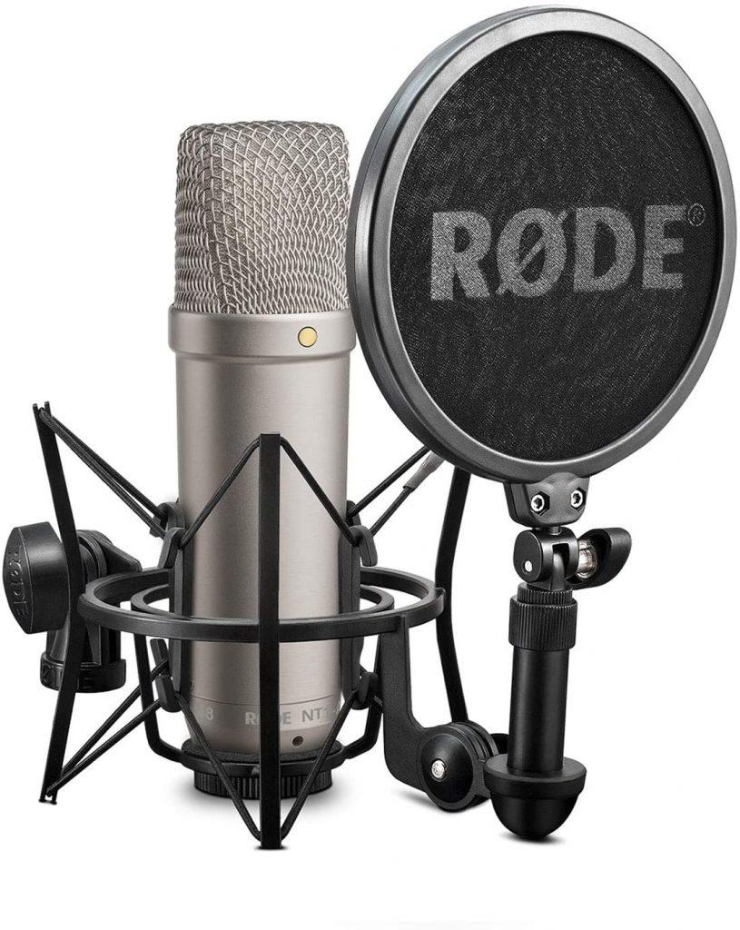 micrófono de condensador rode estudio casero